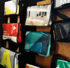 Taschen aus Werbeplanen: jede handgemacht, jede ein Unikat!