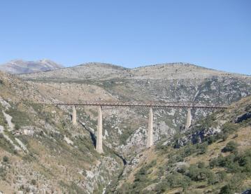 Europas höchste Eisenbahnbrücke